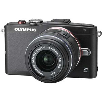 E-PL6 Mirrorless 16MP Digital Camera with 14-42mm II Lens (Black)
