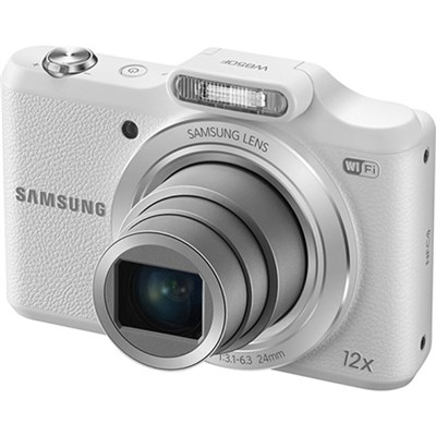 WB50F 16.2MP 12x Opt Zoom Smart Digital Camera - White - OPEN BOX