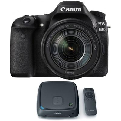 EOS 80D CMOS Digital SLR Camera w/ EF-S 18-135mm Lens + 1TB CS100 Storage Hub