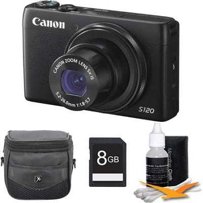 PowerShot S120 12.1MP Digital Camera 8GB Kit