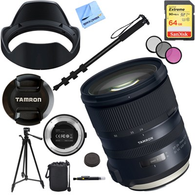 SP 24-70mm f/2.8 Di VC USD G2 Lens for Canon Mount with 64GB Accessory Kit