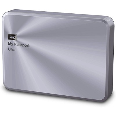 My Passport Ultra Metal Edition 2TB Silver Portable Hard Drive
