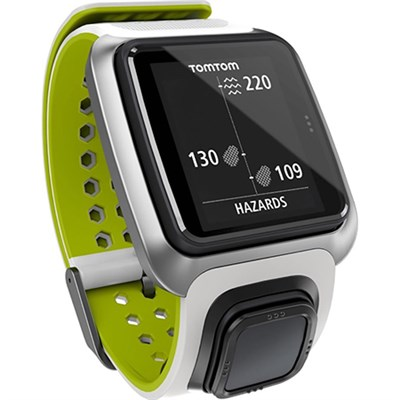 Golfer GPS Watch in Dark White and Bright Green (OPEN BOX)