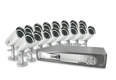 Web Ready 16 Channel Deluxe DVR Security System with 16 Surveillance Cameras