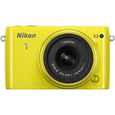 1 S2 Mirrorless 14.2MP Digital Camera with 11-27.5mm Lens - Yellow