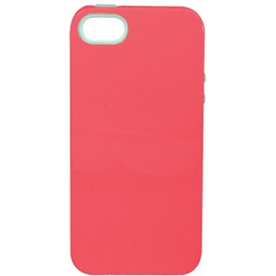 Inlay Hybrid Case for iPhone 5 - Capri (Coral/Mint)