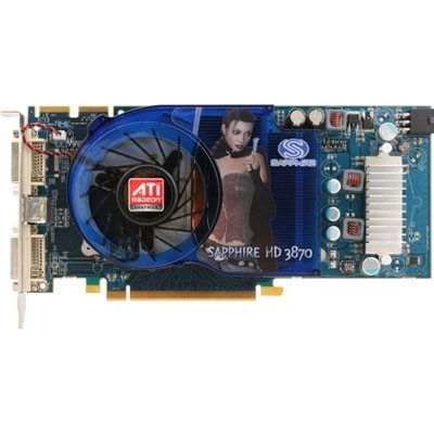 HD3870 PCIE 512MB DDR4 2PORT DVI-I TV OUT 128BIT