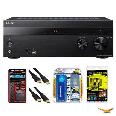 STR-DH540 5.2 Channel 4K AV Receiver Surge Protector Bundle
