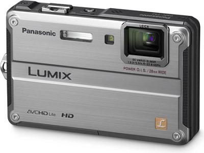 LUMIX 14.1MP Water, Shock, & Freezeproof Digital Camera (Silver) - OPEN BOX