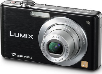DMC-FS15K LUMIX 12.1 MP Compact Digital Camera w/ 5x Optical Zoom (Black)
