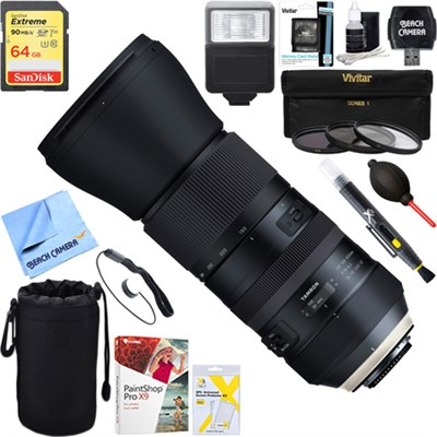 SP 150-600mm F/5-6.3 Di USD G2 Zoom Lens for Sony + 64GB Ultimate Kit