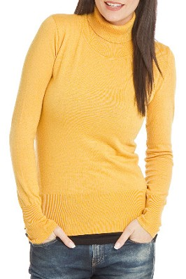 Turtleneck Sweater for Women - Color: Honey / Size: Large