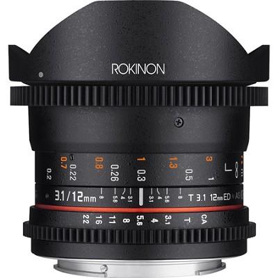 12mm T3.1 Full Frame Ultra Wide Cine DS Fisheye Lens for Canon EF