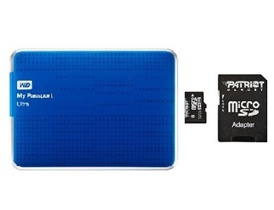 My Passport Ultra 1TB USB 3.0 HD Blue  + Patriot 32g Micro SD