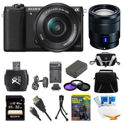 a5100 Mirrorless Camera w/ 16-50mm and 16-70mm Lens Black Bundle
