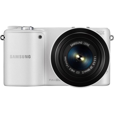 NX2000 20.3MP Mirrorless Smart Digital Camera with 20-50mm Lens (White) OPEN BOX