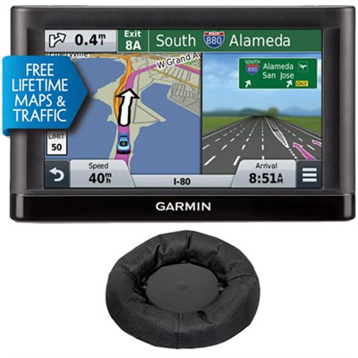 Nuvi 65LMT Essential GPS System w/ Lifetime Maps,Traffic & Garmin Friction Mount