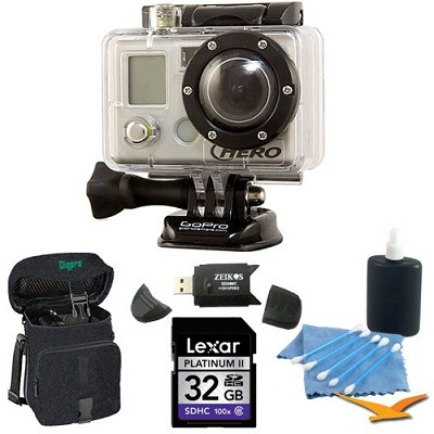 HD Motorsports HERO 1080p Helmet Camera and Camcorder `Epic` Kit. With 32gb Card