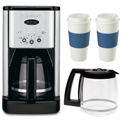 DCC-1200 Brew Central 12 Cup Coffeemaker Bonus Carafe & Two 16 Oz Mugs Bundle