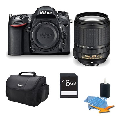 D7100 DX-format Black Digital SLR Camera and 18-140mm VR Lens 16GB Bundle