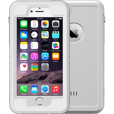 White 4.7` Shock Resistant Waterproof Case for Apple iPhone 6/6S
