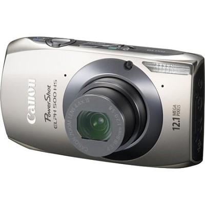 PowerShot ELPH 500 HS Silver Digital Camera w/ 3.2 inch Touch Screen