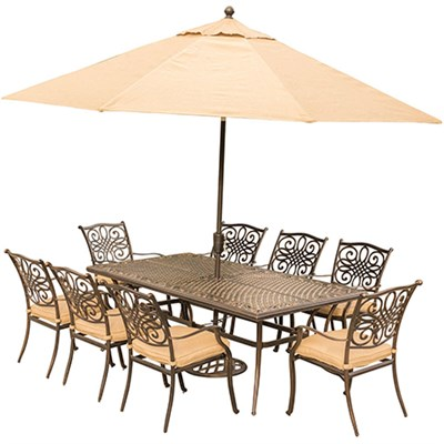 Traditions 9-Piece Dining Set in Tan - TRADDN9PC-SU