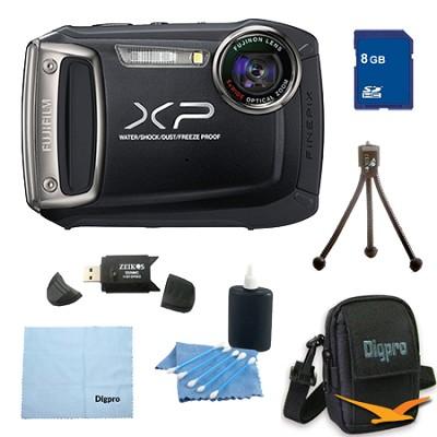 Finepix XP100 14MP CMOS Digital Camera 8 GB Bundle (Black)