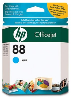 88 Cyan OfficeJet Ink Cartridge  - 900 pages
