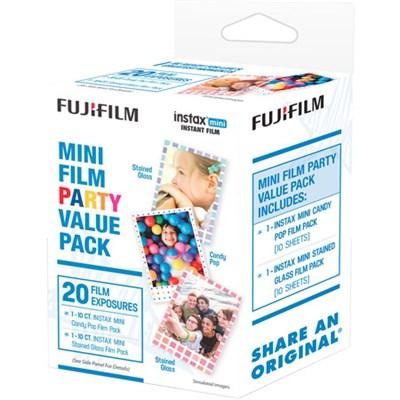 INSTAX Mini Film Party Value Pack (20 Exposures) - 600017170