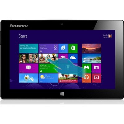 10.1-Inch IdeaPad 64GB Miix Slate 1366 x 768 HD Multi-touch Tablet (Silver)