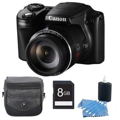 PowerShot SX510 HS 12.1 MP Digital Camera 8GB Bundle