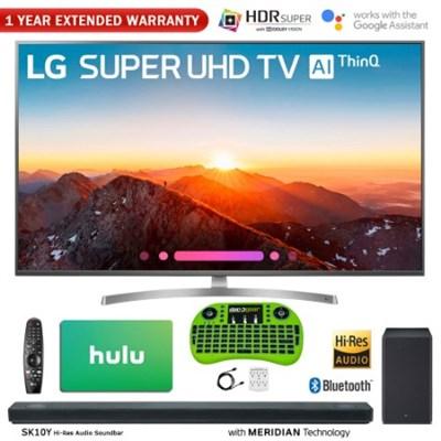 65` Class 4K HDR Smart AI SUPER UHD TV w/ ThinQ + Sound Bar & Hulu Bundle