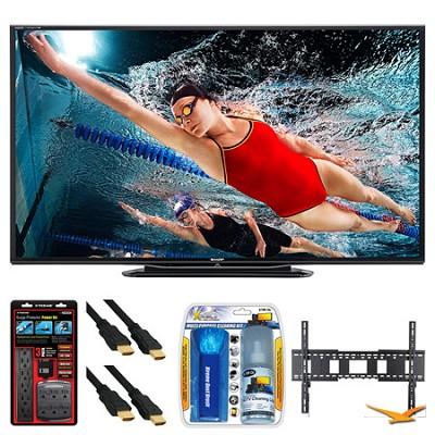 LC-80LE757U Aquos 80` 3D WiFi 240Hz 1080p LED TV Wall Mount Bundle