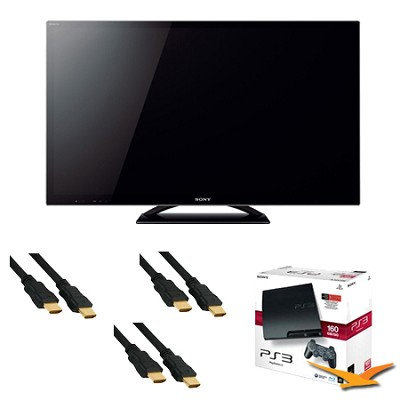 KDL55HX850 - 55` LED HX850 Internet TV + PlayStation 3 Bundle