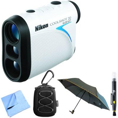 Coolshot 20 Golf Laser Rainproof Rangefinder 550 Yard + Accessories Bundle