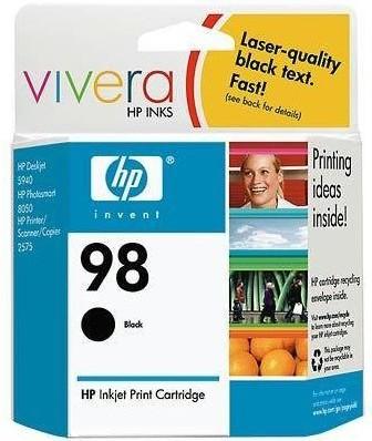98 Black Inkjet Print Cartridge for PhotoSmart-8050 Inkjet Printer