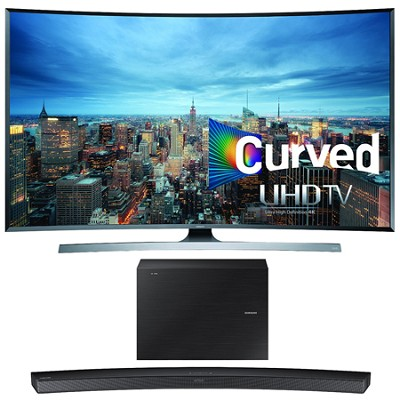 UN55JU7500 - 55-Inch 2160p 3D Curved 4K UHD Smart TV w/ HW-J6000 Soundbar Bundle
