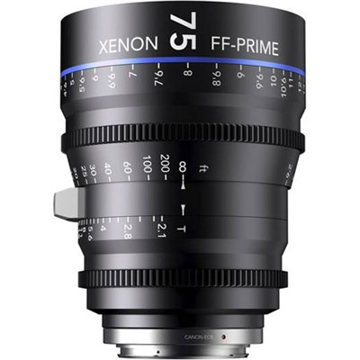 75MM Xenon Full Frame 4K Prime XN 2.1 / 75 Feet Lens for PL Mounts