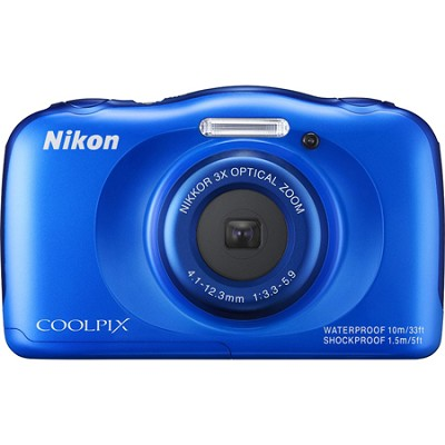 COOLPIX S33 13.2MP Waterproof Shockproof Freezeproof Digital Camera - Blue
