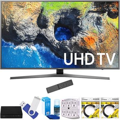 54.6` 4K Ultra HD Smart LED TV 2017 Model with Terk Tuner Bundle
