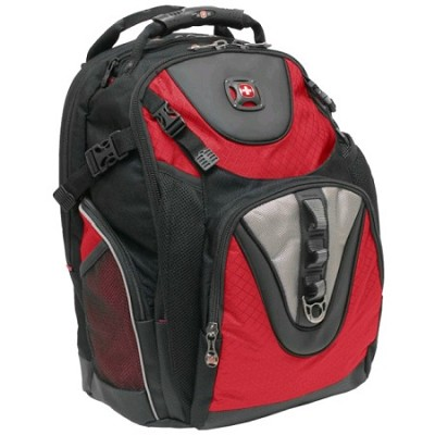 Swiss Gear Padded Backpack in Red/Black