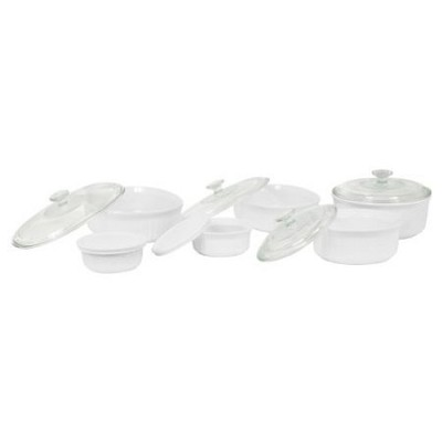 French White 12-Piece Bake and Serve Set - OPEN BOX