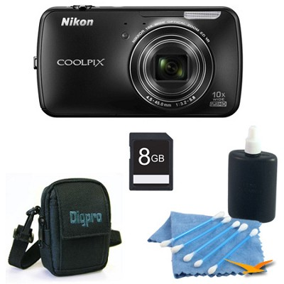 COOLPIX S800c 16MP 3.5 inch LED Black Digital Camera