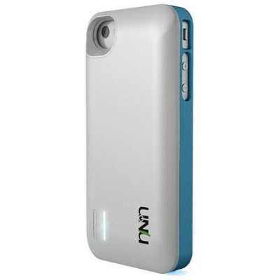 Exera Modular Detachable Battery Case for iPhone 4S 4 - Blue/White