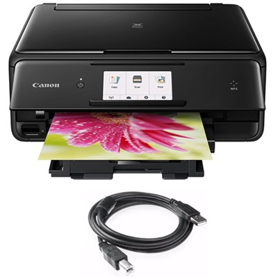 PIXMA TS8020 Wireless All-In-One Printer,Scanner & Copier BLack+USB Cable