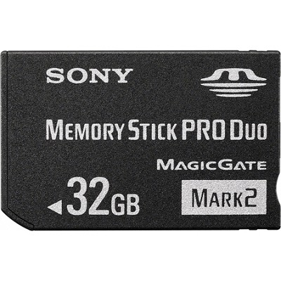 32GB  Memory Stick PRO Duo MARK 2 Media {MS-MT32G}