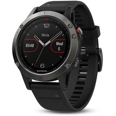 Fenix 5 Multisport 47mm GPS Watch - Slate Gray with Black Band