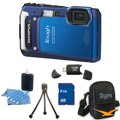 8GB Kit Tough TG-820 iHS 12MP Water/Shock/Freezeproof Digital Camera - Blue
