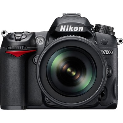 D7000 16.2 MP DX-format Digital SLR 18-105mm Lens Kit w/ 1080p HD Video